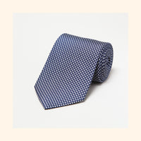 № 025 - Navy Elliptical Screen-Printed 50oz Silk Tie