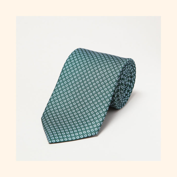 № 039 - Green Polo Screen-Printed 50oz Silk Tie
