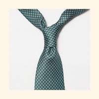 "â""– 039 - Green Polo Screen-Printed 50oz Silk Tie"