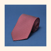 "â""– 040 - Burgundy Polo Screen-Printed 50oz Silk Tie"