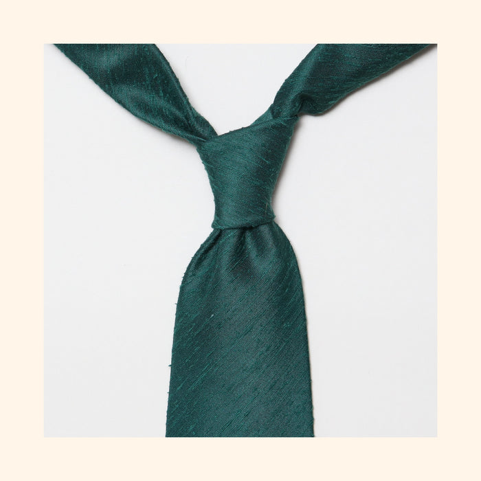 "â""– 053 - Green Plain Shantung Silk Tie"
