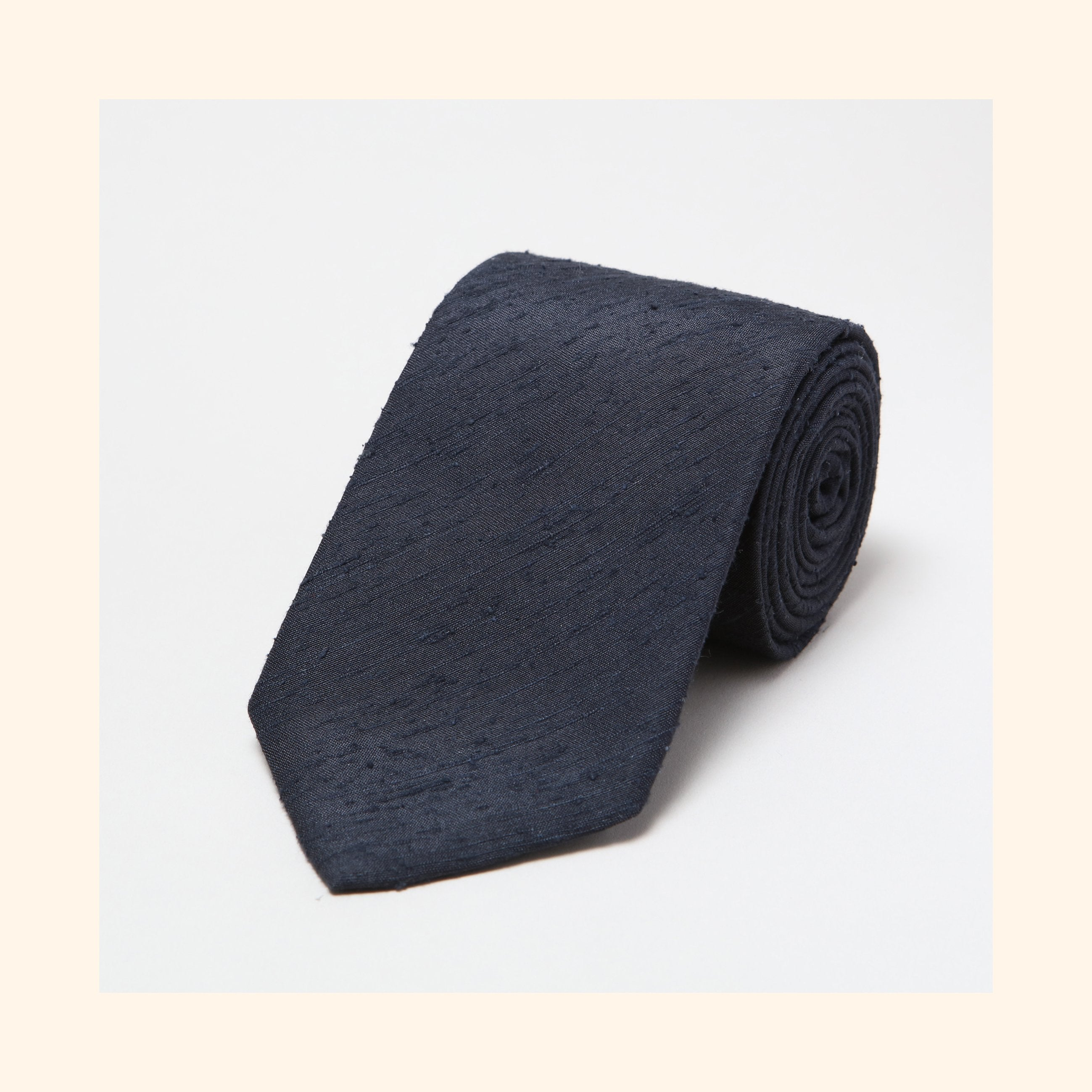 № 056 - Black Plain Shantung Silk Tie