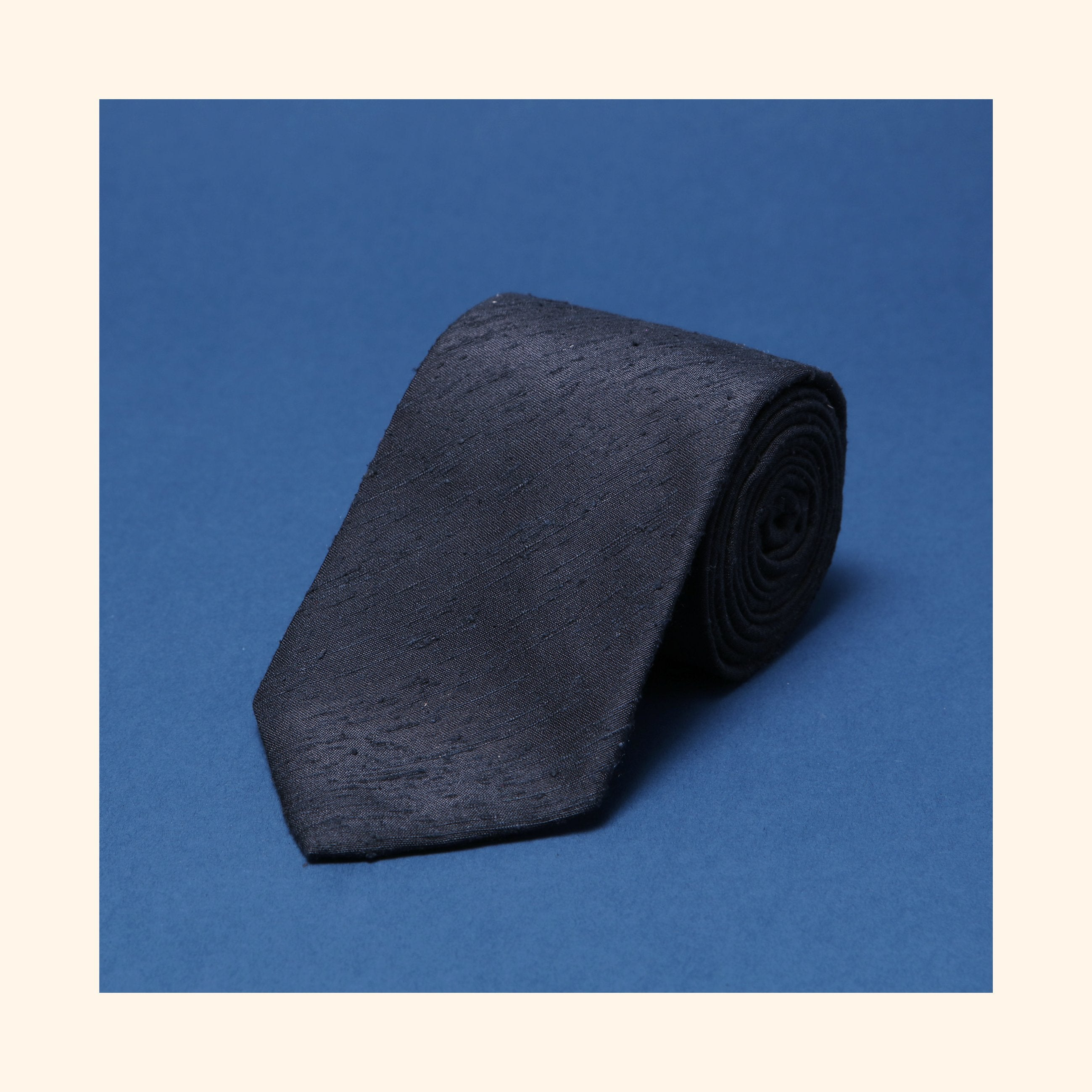 "â""– 056 - Black Plain Shantung Silk Tie"