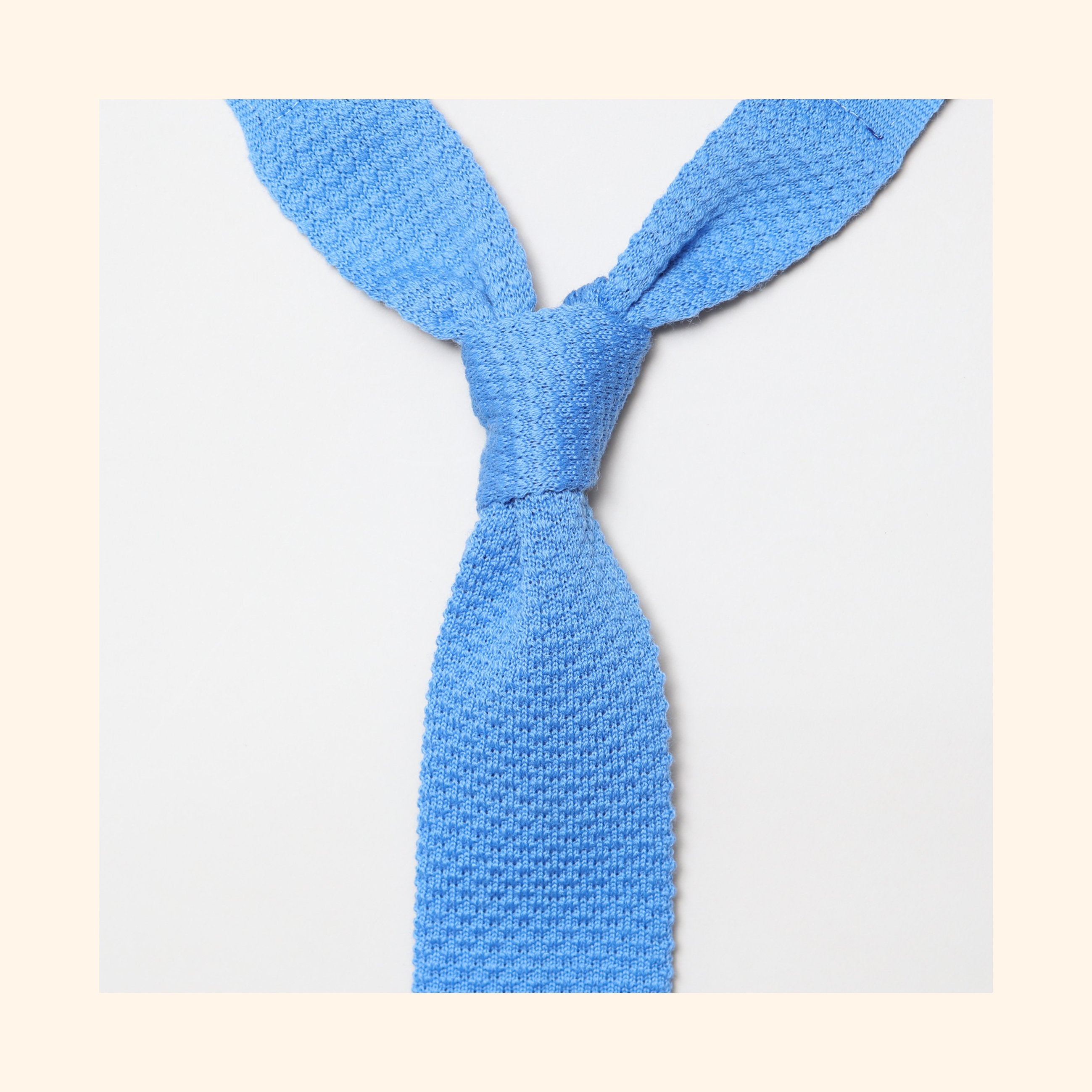 "â""– 095 - Sky Blue Knitted Wool Tie"