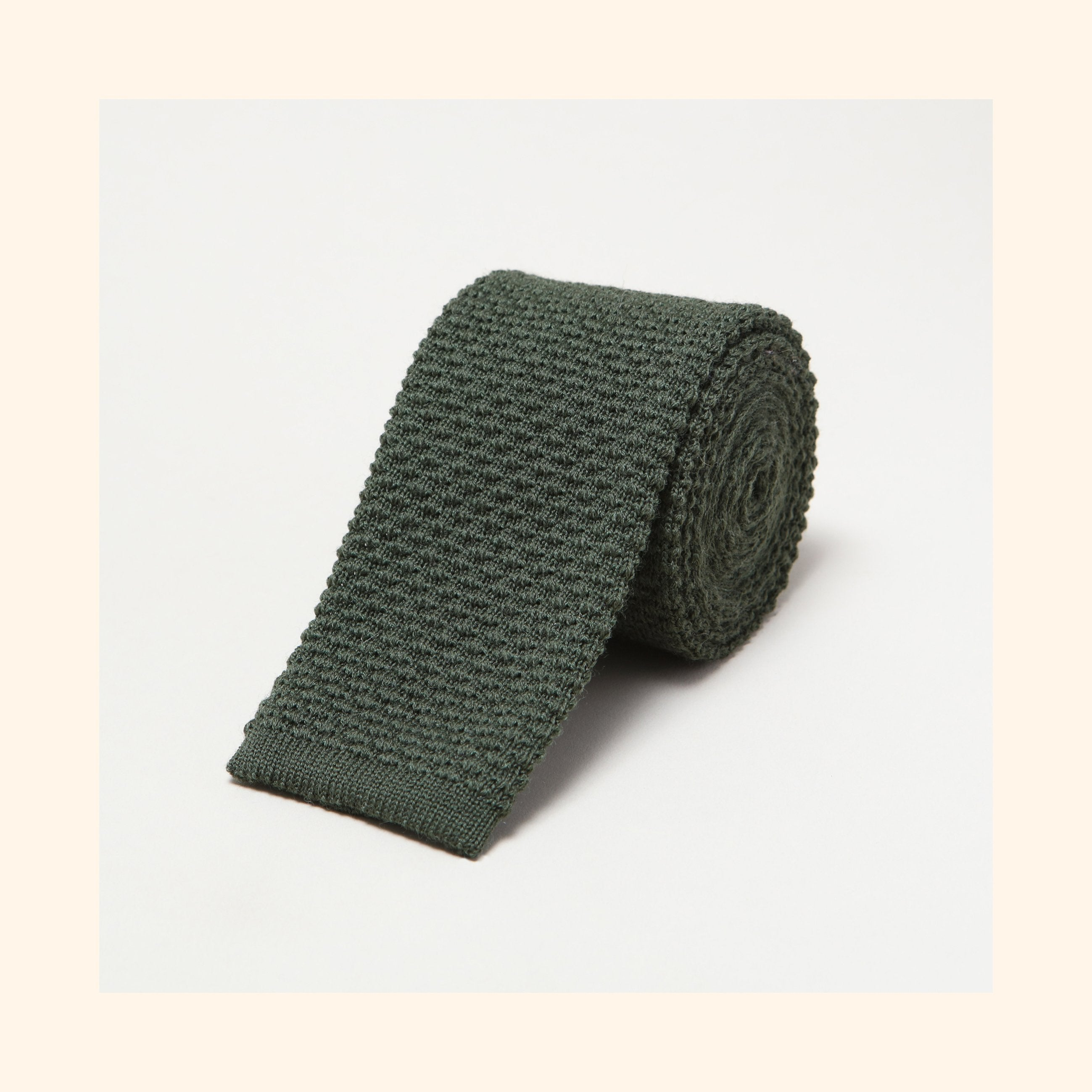 № 097 - Green Knitted Wool Tie