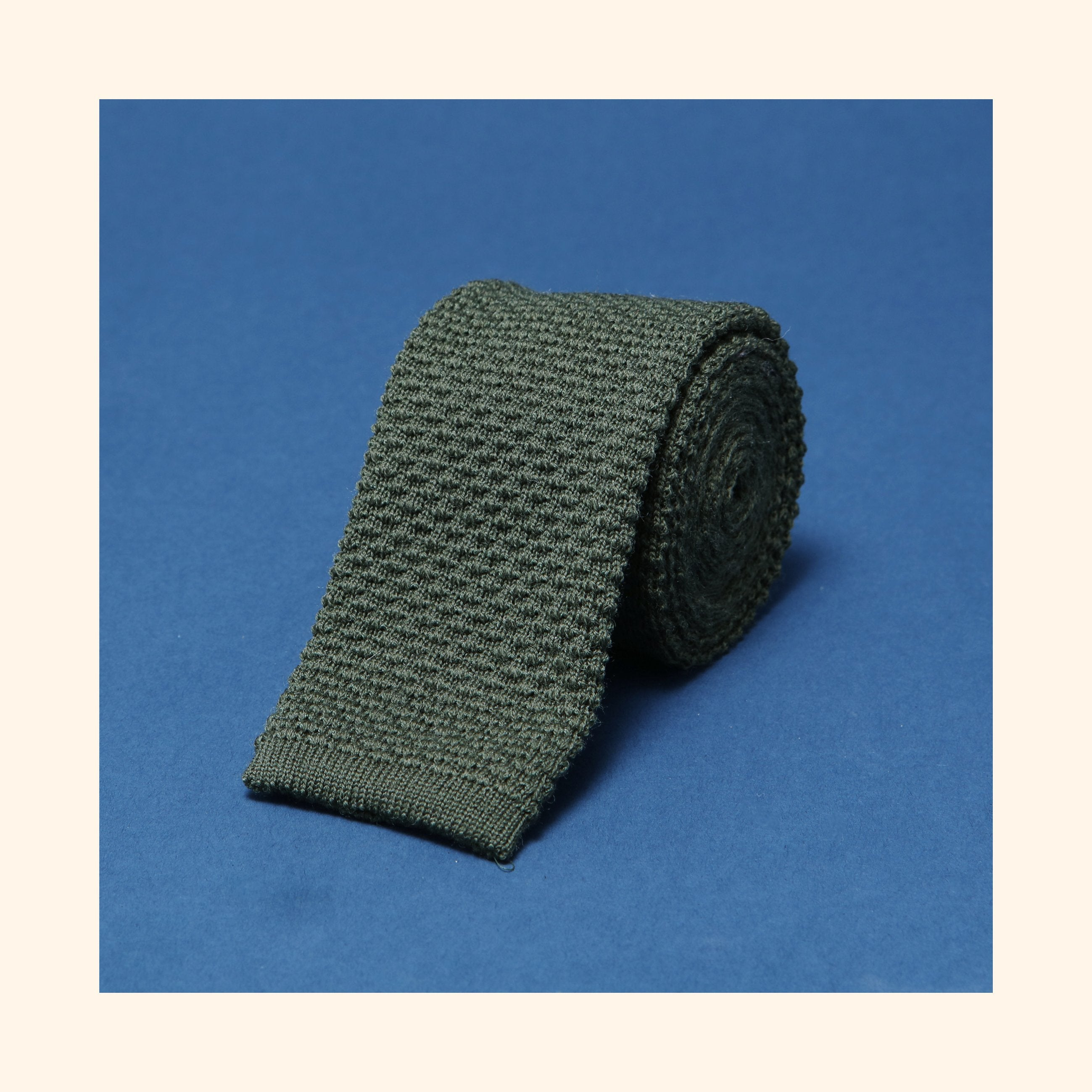 "â""– 097 - Green Knitted Wool Tie"