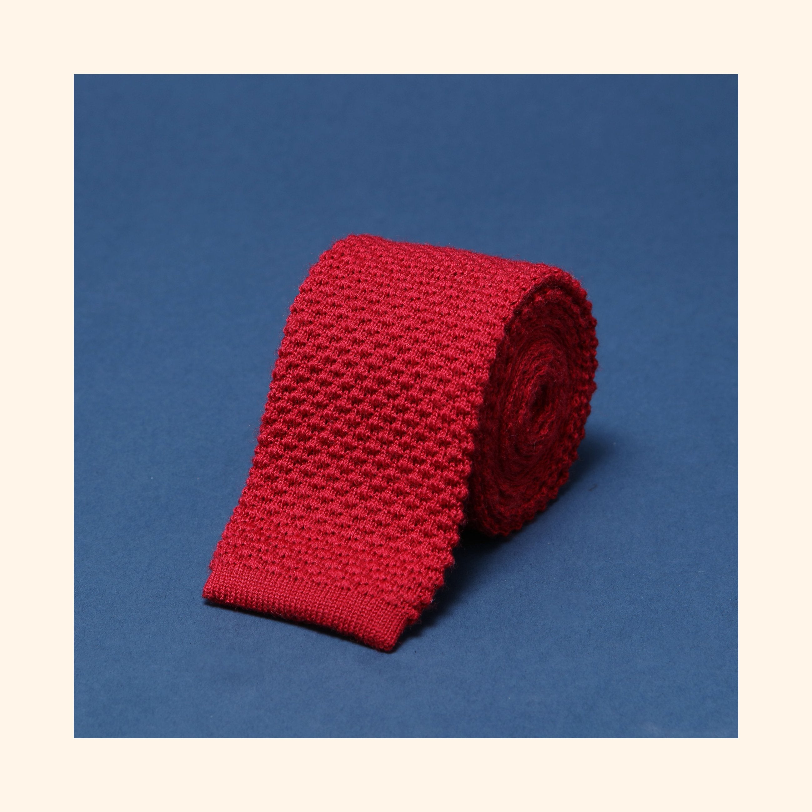 "â""– 098 - Burgundy Knitted Wool Tie"