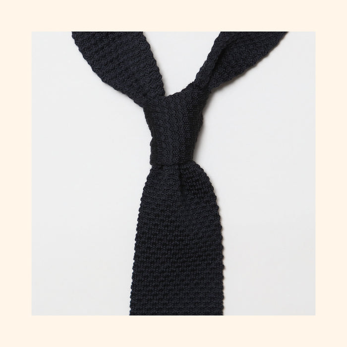 "â""– 099 - Black Knitted Wool Tie"