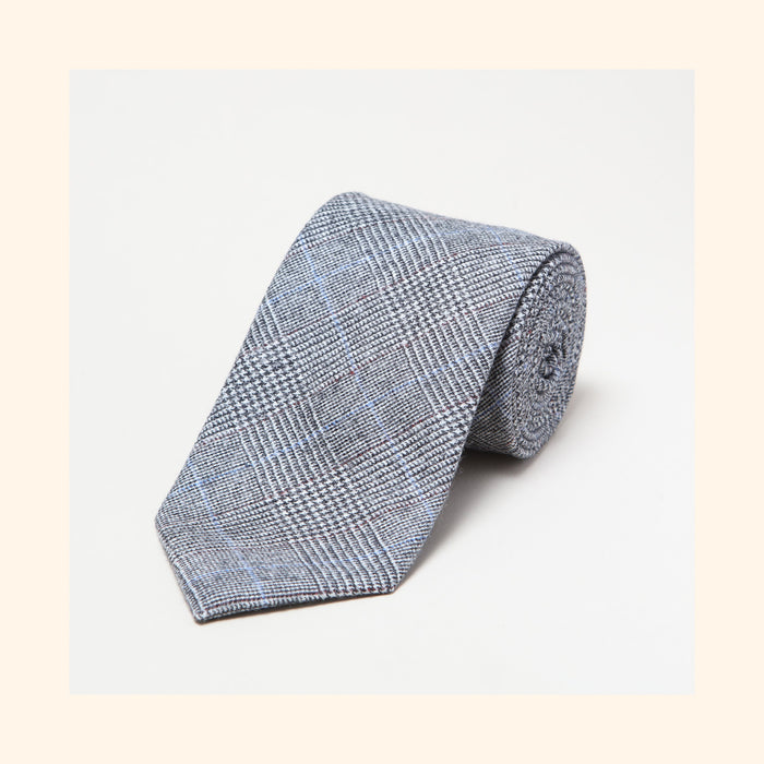 № 151 - Fox Brothers Prince of Wales Flannel Pure Wool Tie