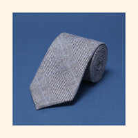 "â""– 151 - Fox Brothers Prince of Wales Flannel Pure Wool Tie"