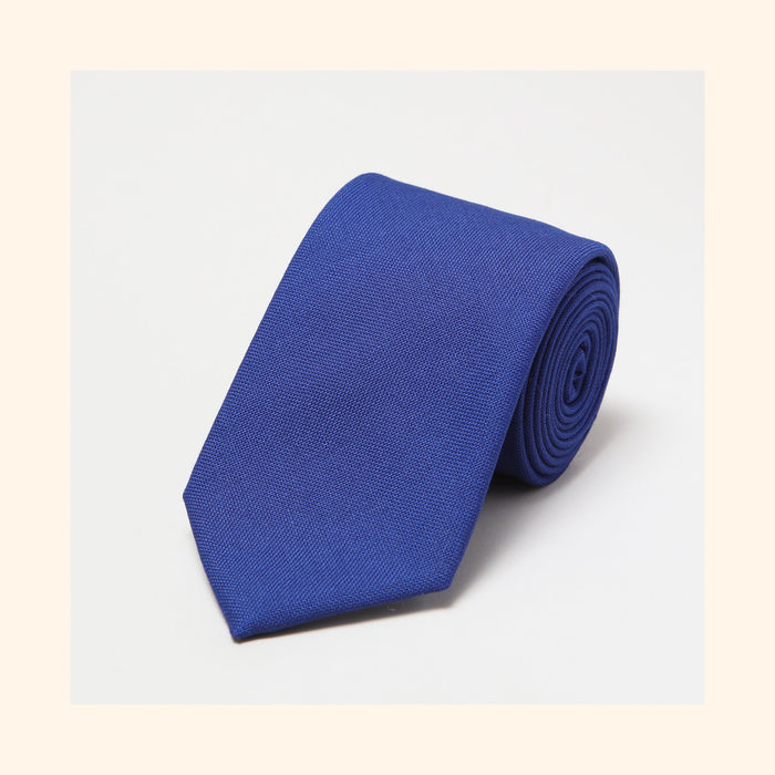 № 152 - Fox Brothers Royal Blue Hopsack Pure Wool Tie