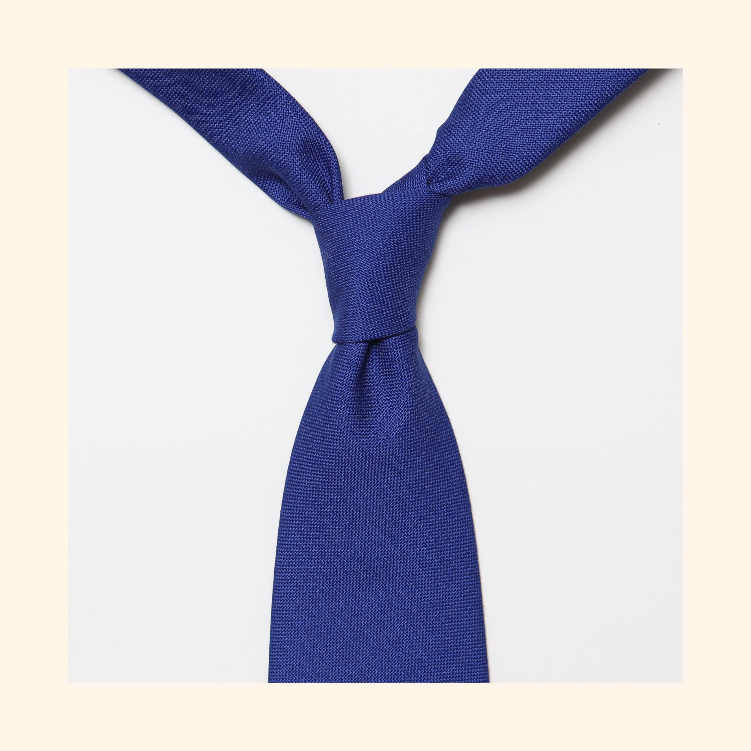 "â""– 152 - Fox Brothers Royal Blue Hopsack Pure Wool Tie"