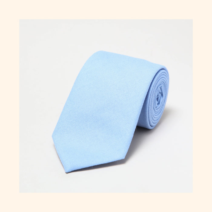 № 156 - Fox Brothers Queen's Award Powder Blue Flannel Pure Wool Tie