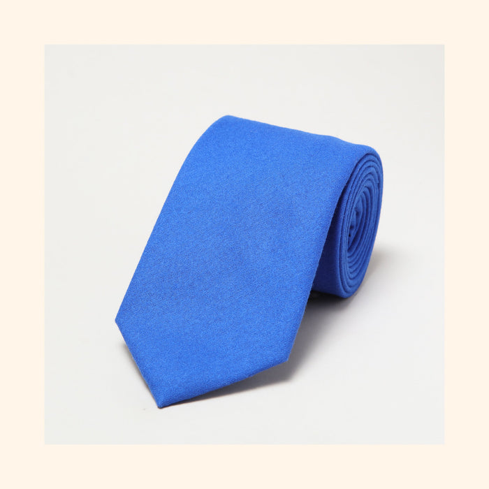 № 157 - Fox Brothers Queen's Award Yves Klein Blue Flannel Pure Wool Tie