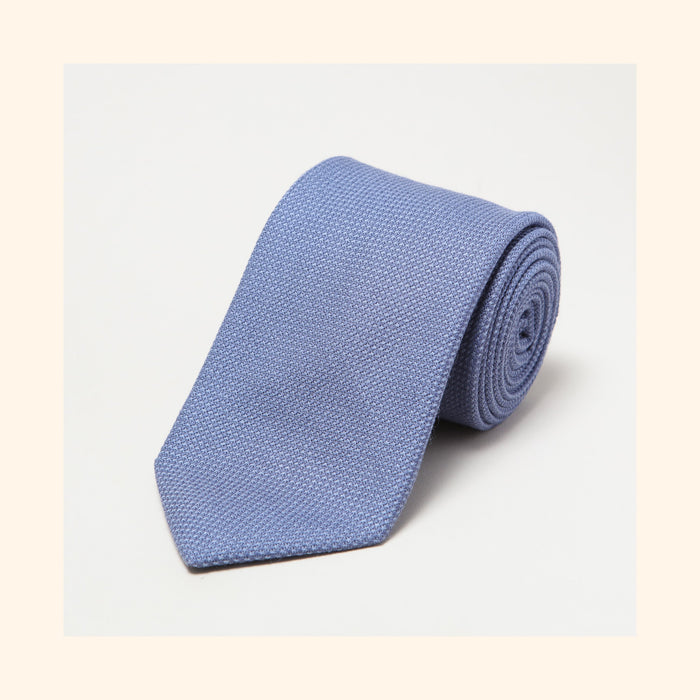 № 170 - Fox Brothers Dusty Blue Basketweave Pure Wool Tie