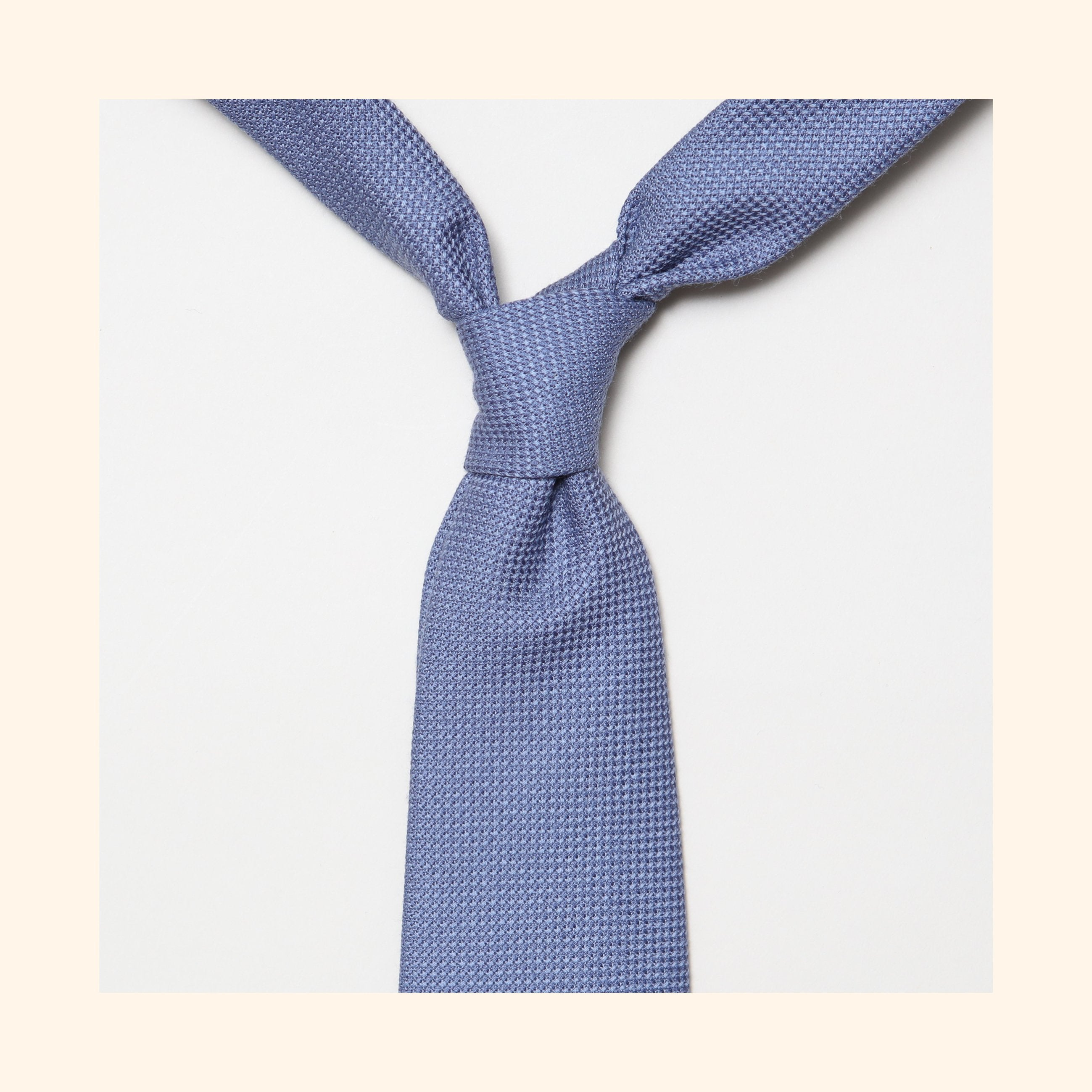 "â""– 170 - Fox Brothers Dusty Blue Basketweave Pure Wool Tie"