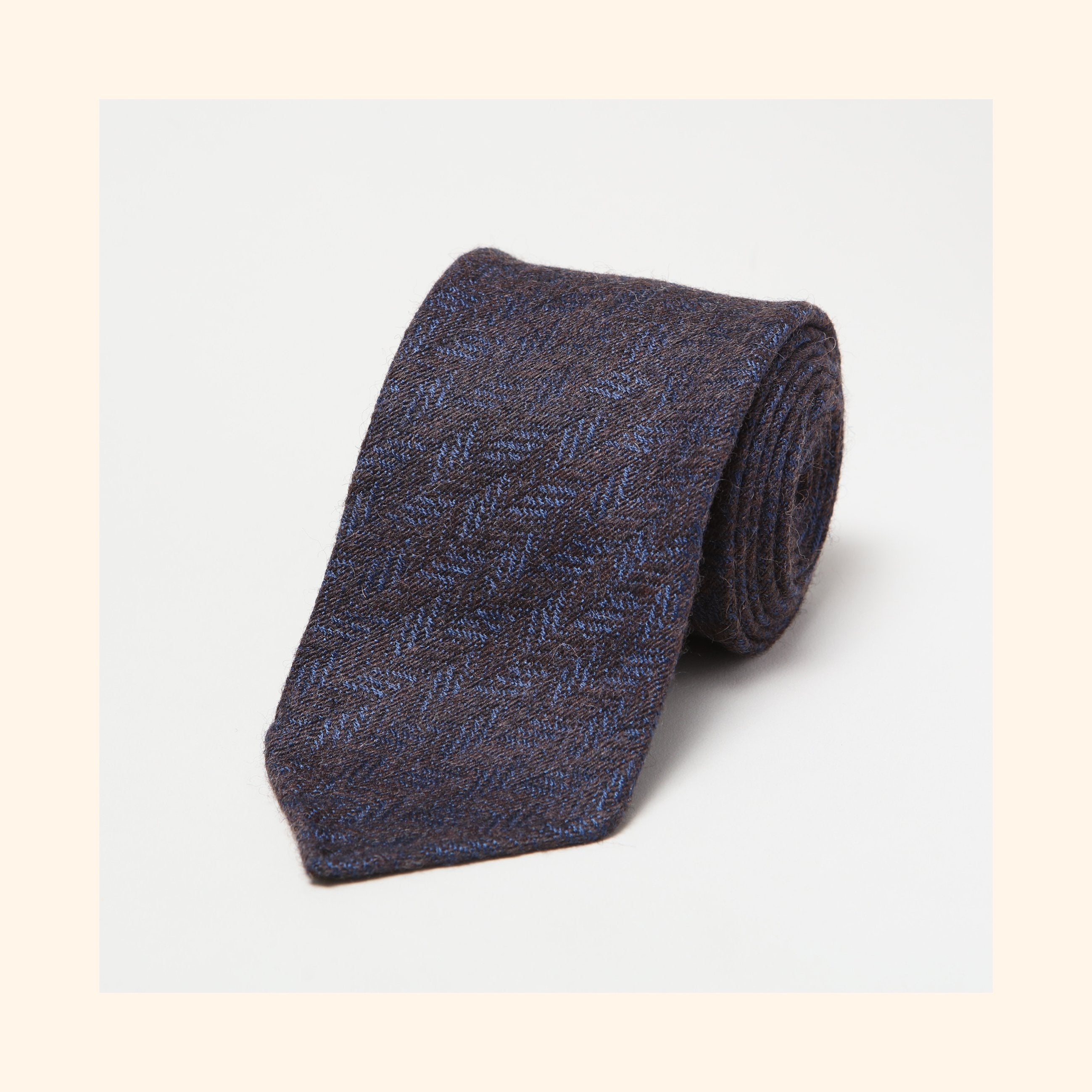 № 227 - Limited Edition Dashing Tweeds 'British Wool' Rolled Tip Wool Tie