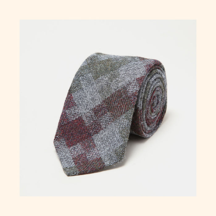 № 228 - Limited Edition Dashing Tweeds 'Shetland Jig' Rolled Tip Wool Tie