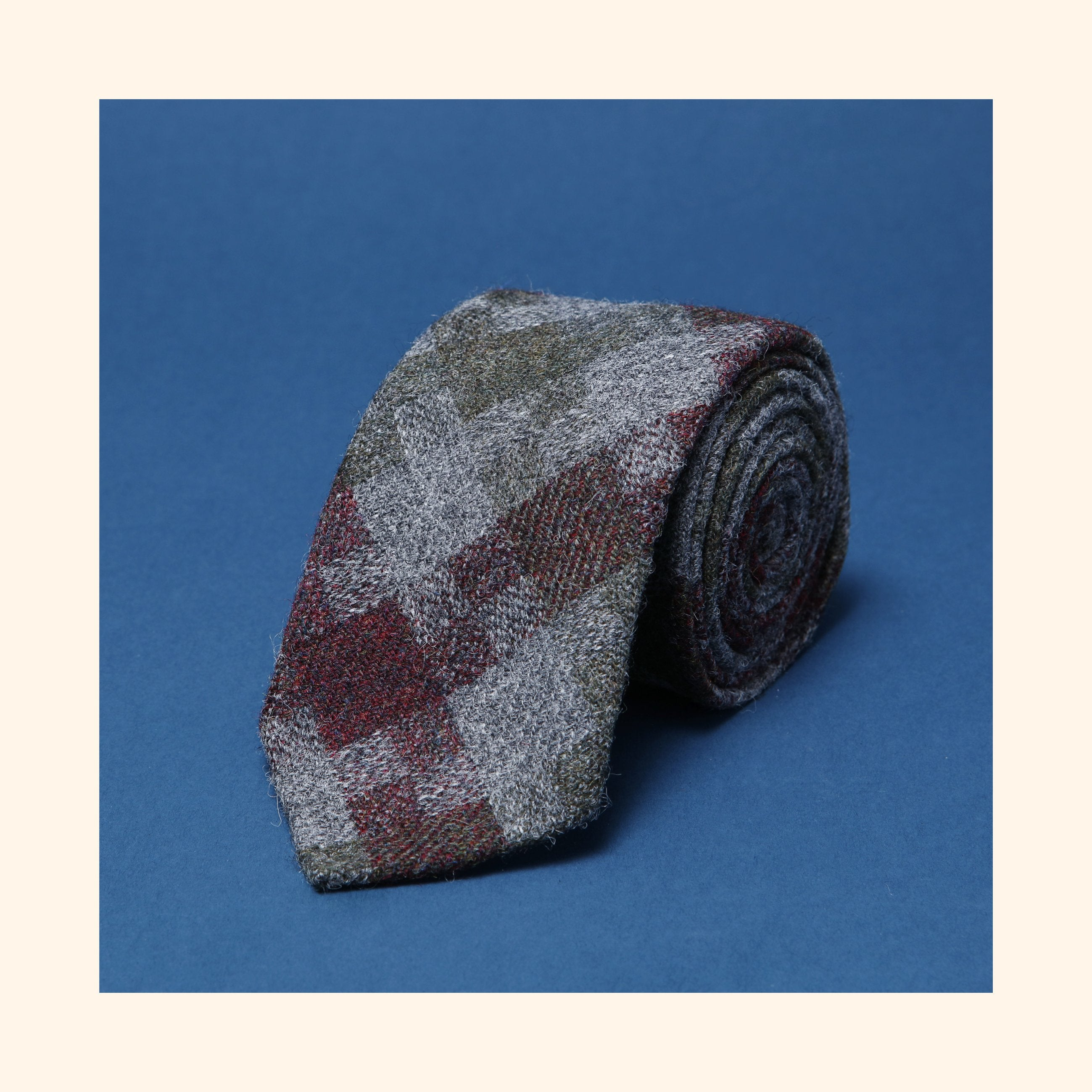"â""– 228 - Limited Edition Dashing Tweeds 'Shetland Jig' Rolled Tip Wool Tie"