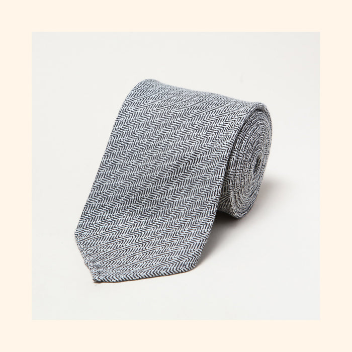 № 230 - Limited Edition Dashing Tweeds 'Abstract Herringbone' Rolled Tip Wool Tie