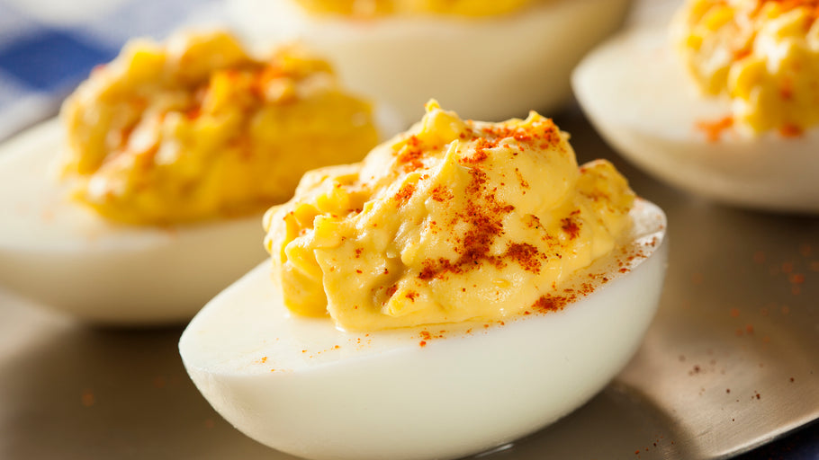 B-Sting Deviled Eggs