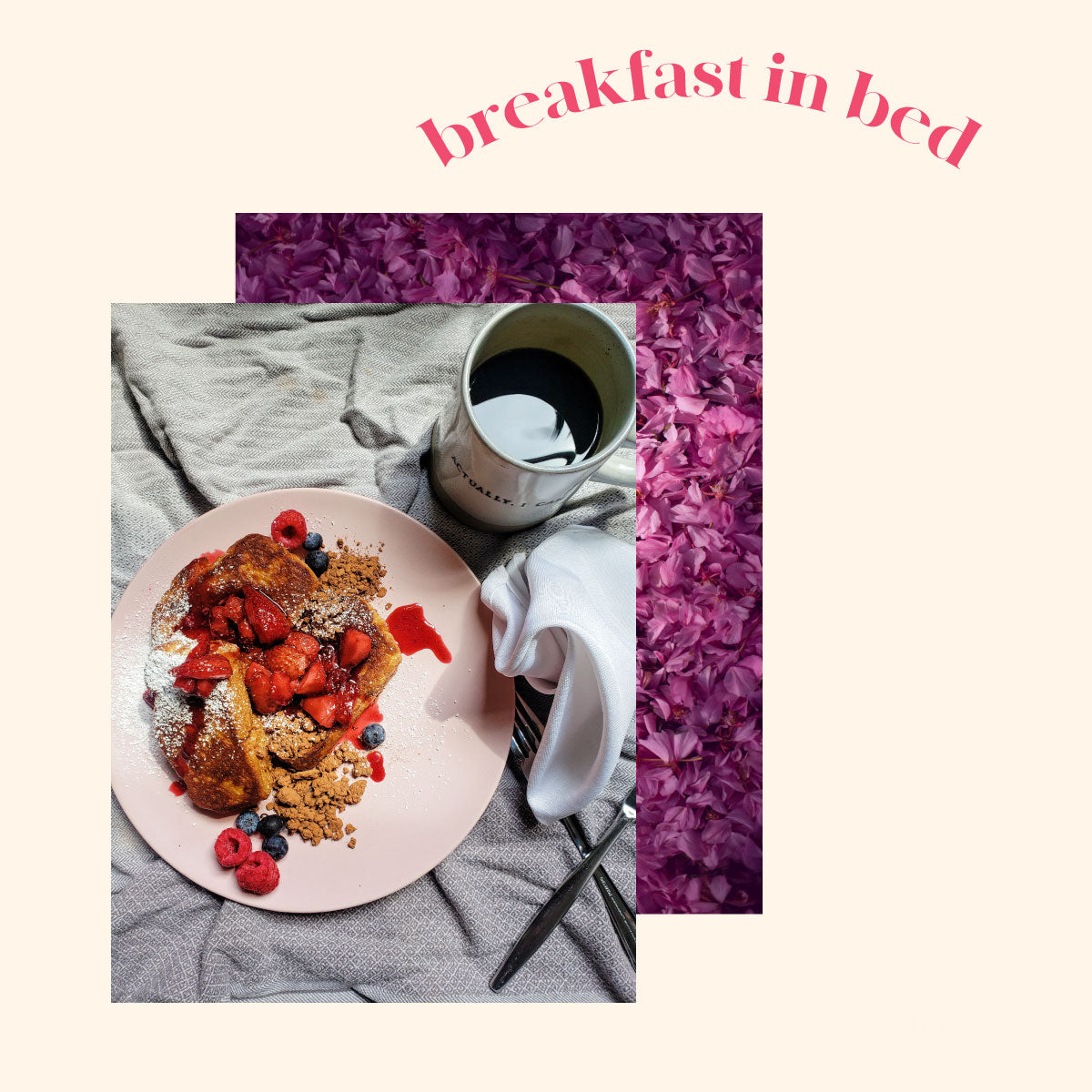 French Toast With Hibiscus Tea Compote