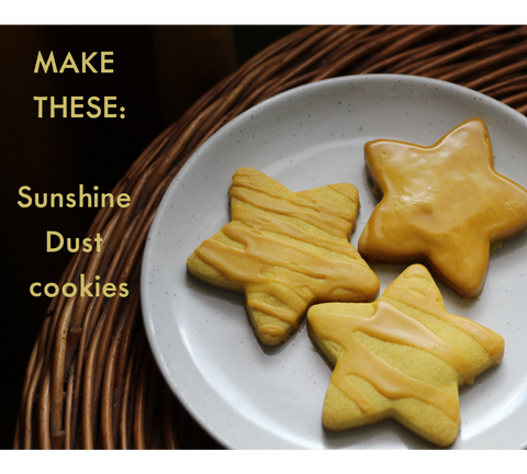 Turmeric and Ginger star shaped cookies