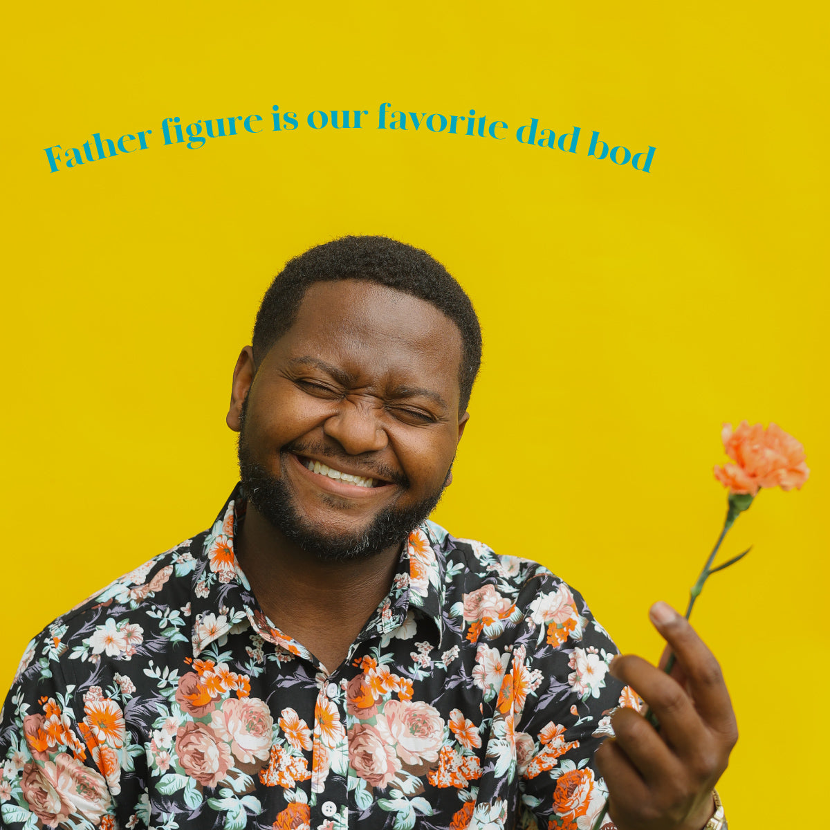 Father Figure on Yellow With Dad Joke