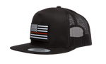 Thin Red Line Flag Trucker Hat