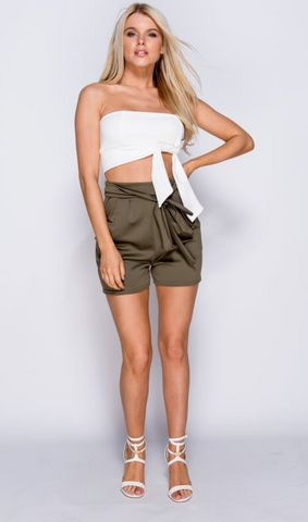 Belt High Waist Shorts