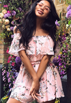 Floral Pink Playsuit