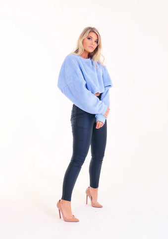 TEDDY Baby Blue Batwing Jumper