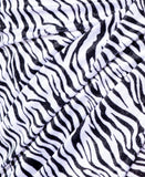 ARIANA Asymmetric Cami Zebra Print Dress