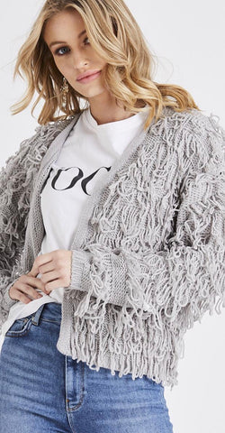 LOTTIE Grey Shaggy Jumper