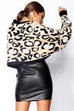 LUCY Stone Leopard Batwing Jumper