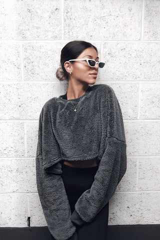 TEDDY Grey Batwing Jumper
