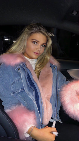 ASPEN Pink Faux Fur Jacket