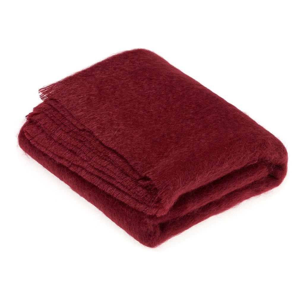 Red Mohair Throw