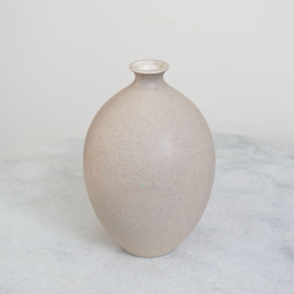 Pebble Grey Oval Vase