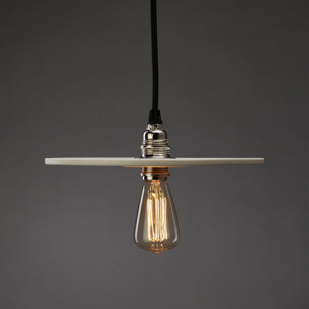 Flat Spin Pendant | White
