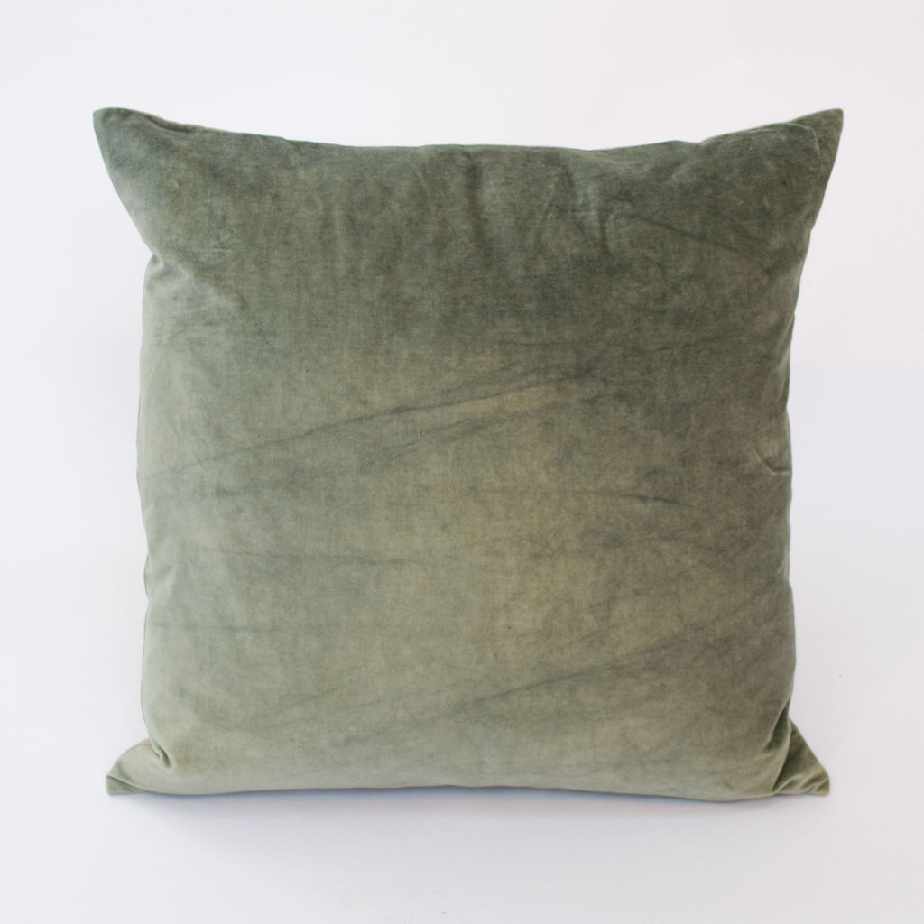 Pale Green Velvet Cushion