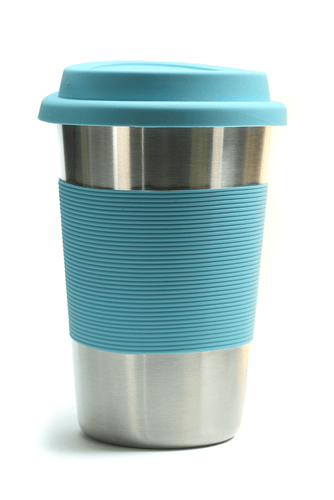 Bamboo Stainless steel Cup - Light Blue