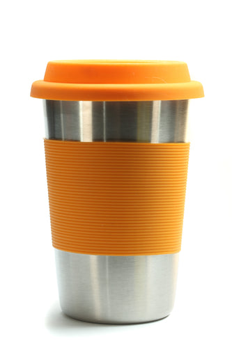 Bamboo Stainless steel cup - orange