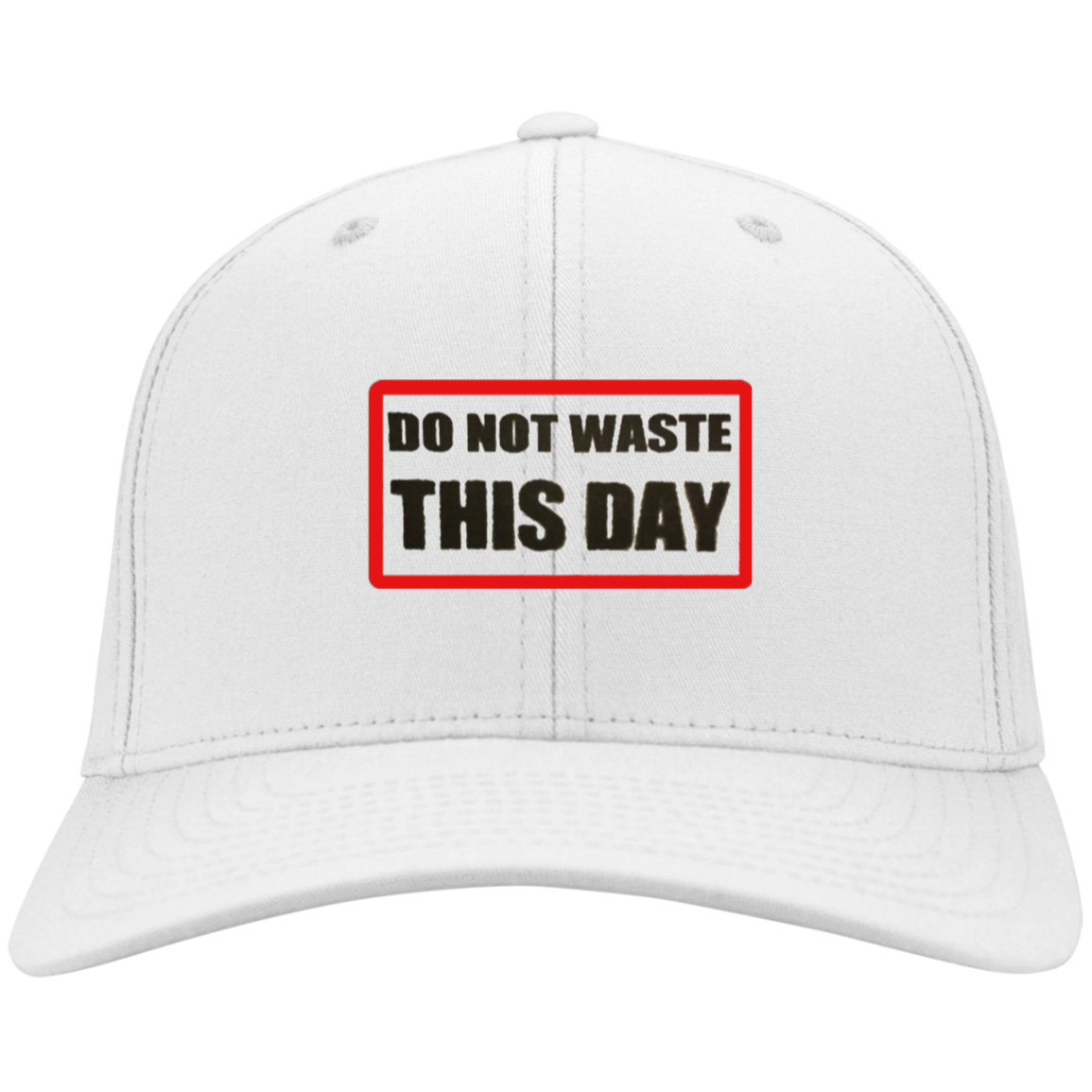 Cap  Hat DO NOT WASTE THIS DAY logo on Transparent Background