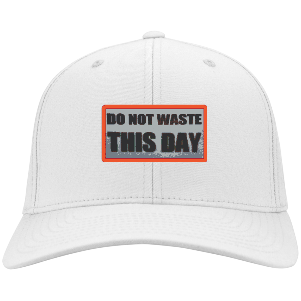 Cap  Hat DO NOT WASTE THIS DAY logo on Retro Background