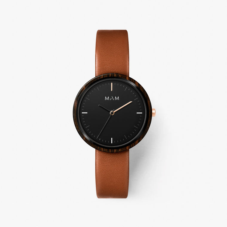 Thin watch wood Mam Originals | PLANO 654