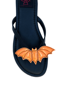 Betty Bat Orange glitter sandal