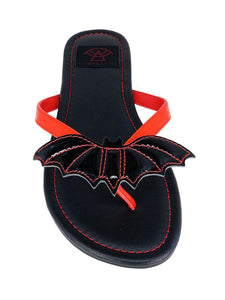 Betty Bat Sandal Red/black