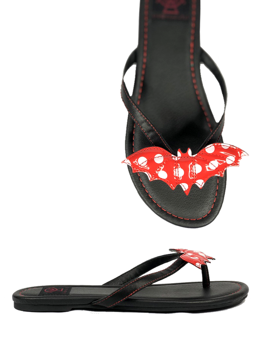 Betty Bat Sandal Red Polka dot