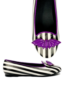 Lydia Bat Flat striped purple